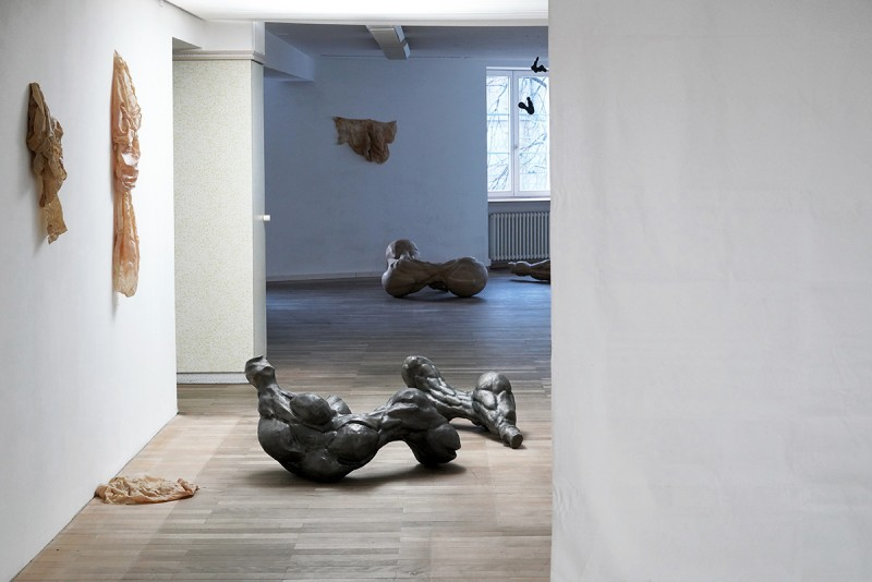 Solo exhibition by Swiss artist Elisabeth Eberle in Zurich curated by Kristina Grigorjeva and Marco Meuli.
